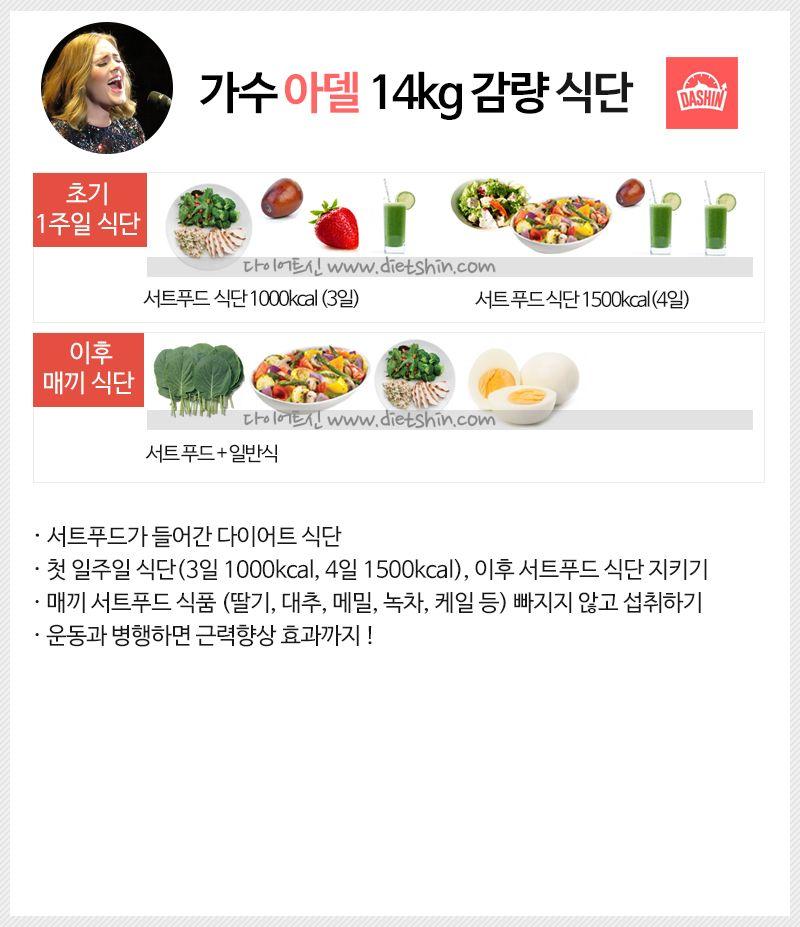 가수 아델 다이어트 식단표 (14kg 감량)